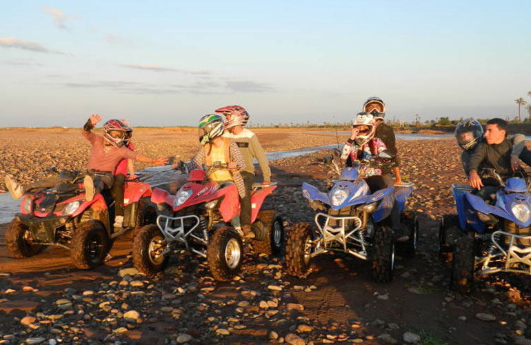 Quad biking in marrakech palm grove