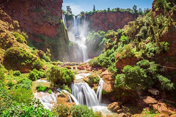 day trip from Marrakech to Ouzoud waterfall