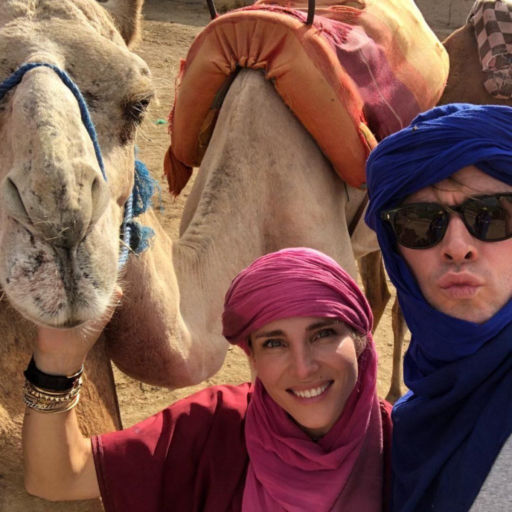 Chris Hemsworth and Elsa Pataky in Marrakech